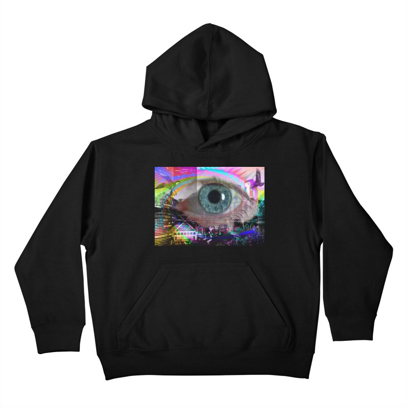 Eye on the City: Part of the Eye Series Kids Pullover Hoody by InspiredPsychedelics's Artist Shop
