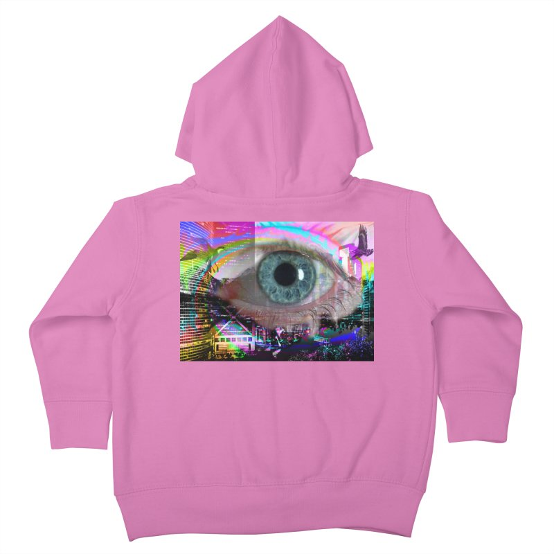 Eye on the City: Part of the Eye Series Kids Toddler Zip-Up Hoody by InspiredPsychedelics's Artist Shop