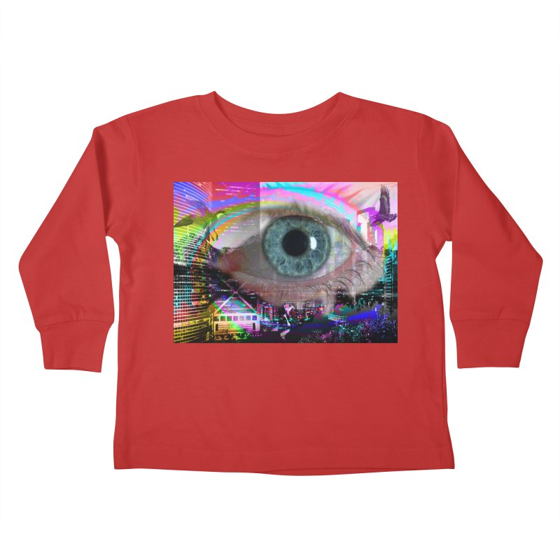 Eye on the City: Part of the Eye Series Kids Toddler Longsleeve T-Shirt by InspiredPsychedelics's Artist Shop
