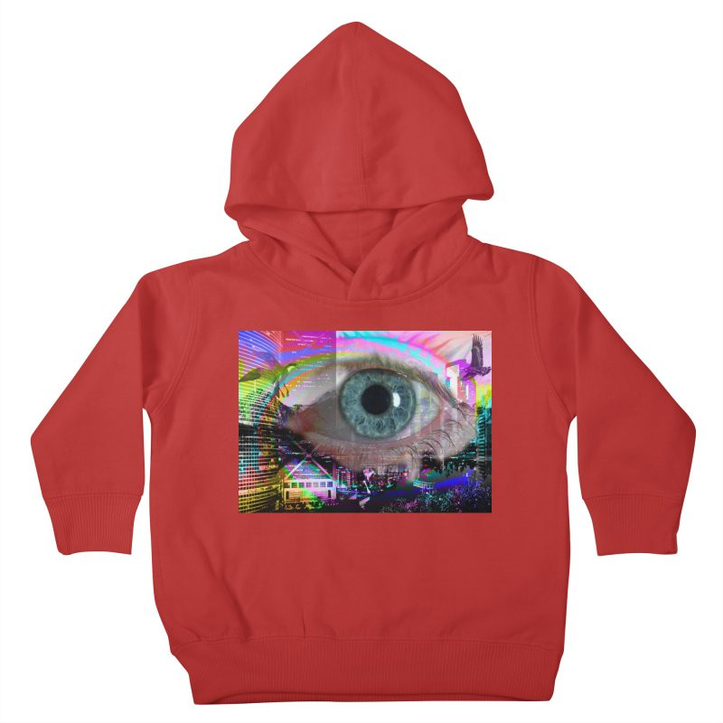 Eye on the City: Part of the Eye Series Kids Toddler Pullover Hoody by InspiredPsychedelics's Artist Shop