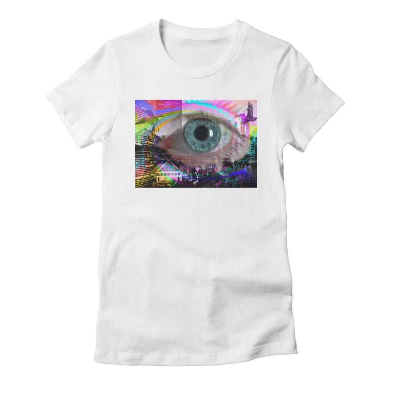 Eye on the City: Part of the Eye Series Women's Fitted T-Shirt by InspiredPsychedelics's Artist Shop
