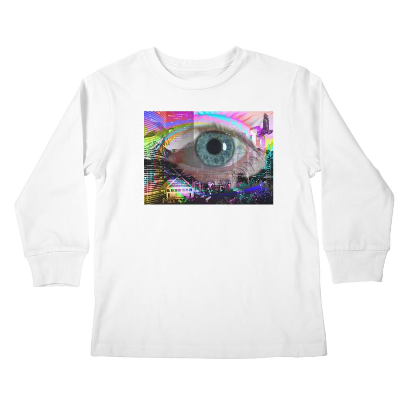Eye on the City: Part of the Eye Series Kids Longsleeve T-Shirt by InspiredPsychedelics's Artist Shop