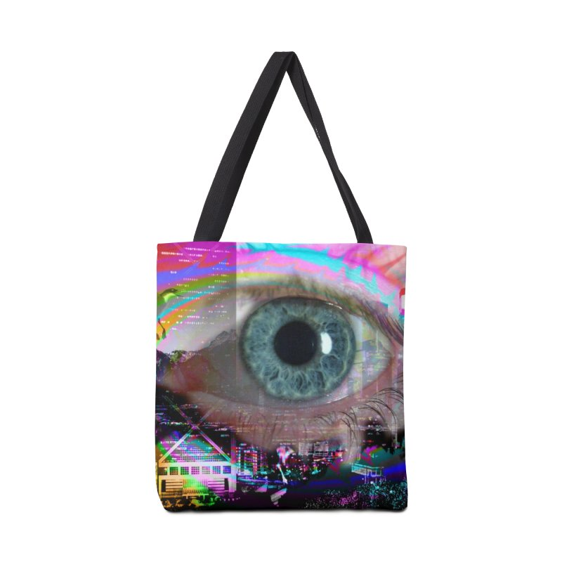 Eye on the City: Part of the Eye Series Accessories Bag by InspiredPsychedelics's Artist Shop