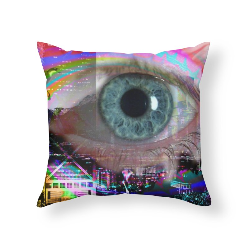 Eye on the City: Part of the Eye Series Home Throw Pillow by InspiredPsychedelics's Artist Shop