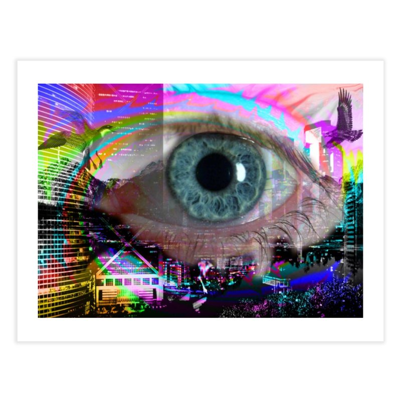Eye on the City: Part of the Eye Series Home Fine Art Print by InspiredPsychedelics's Artist Shop