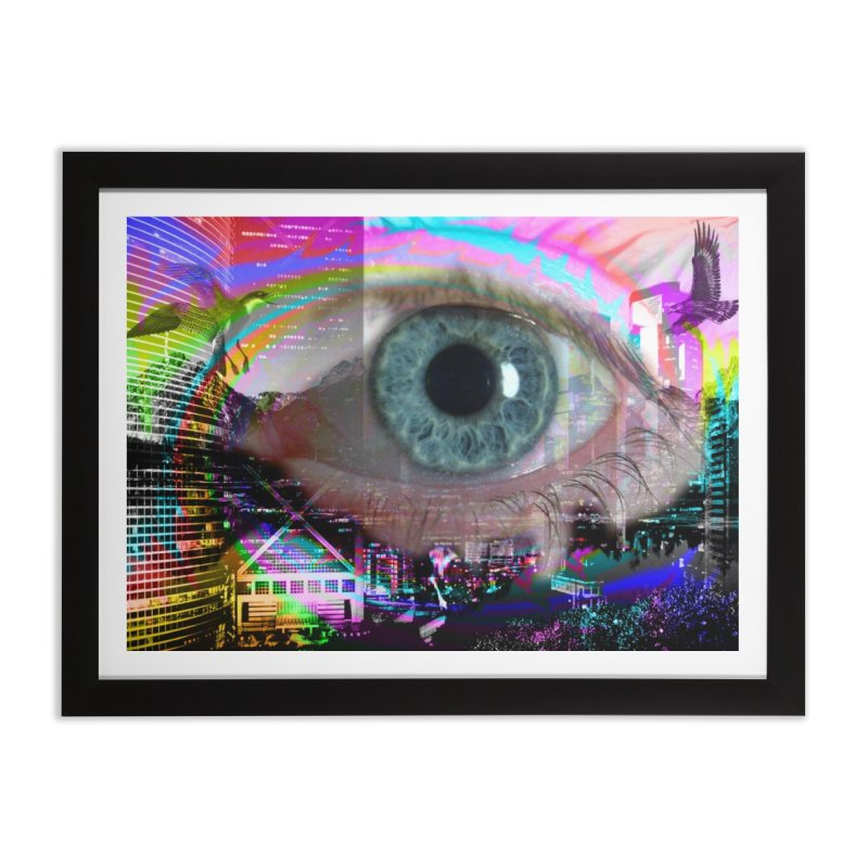 Eye on the City: Part of the Eye Series Home Framed Fine Art Print by InspiredPsychedelics's Artist Shop