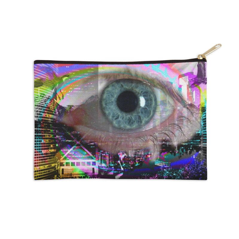 Eye on the City: Part of the Eye Series Accessories Zip Pouch by InspiredPsychedelics's Artist Shop