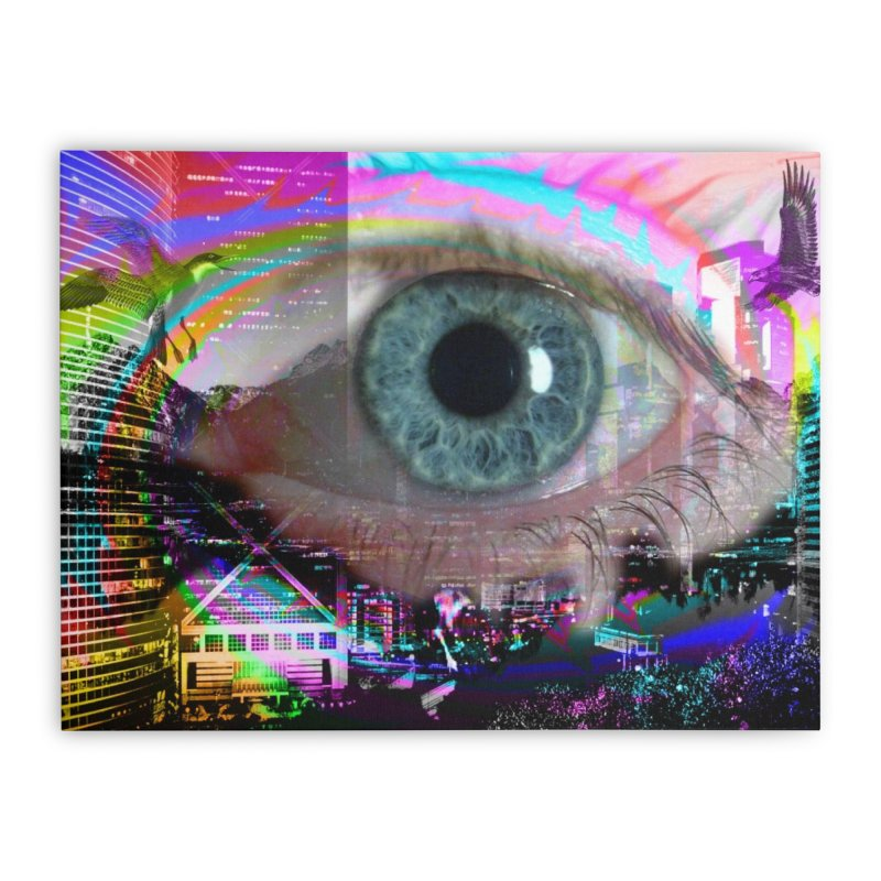 Eye on the City: Part of the Eye Series Home Stretched Canvas by InspiredPsychedelics's Artist Shop