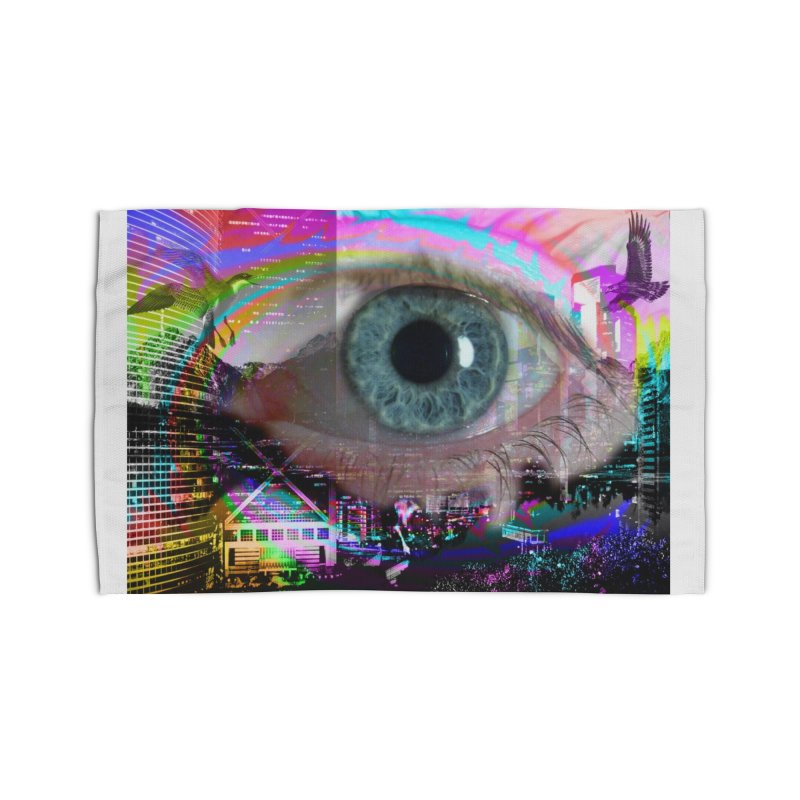 Eye on the City: Part of the Eye Series Home Rug by InspiredPsychedelics's Artist Shop