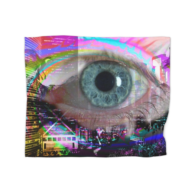 Eye on the City: Part of the Eye Series Home Blanket by InspiredPsychedelics's Artist Shop