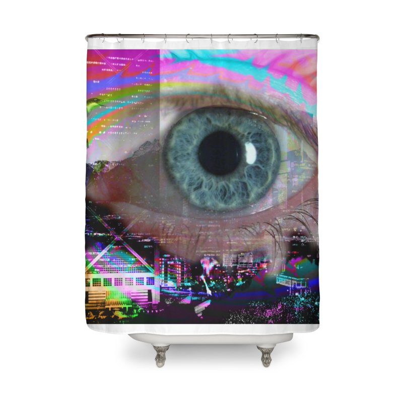 Eye on the City: Part of the Eye Series Home Shower Curtain by InspiredPsychedelics's Artist Shop
