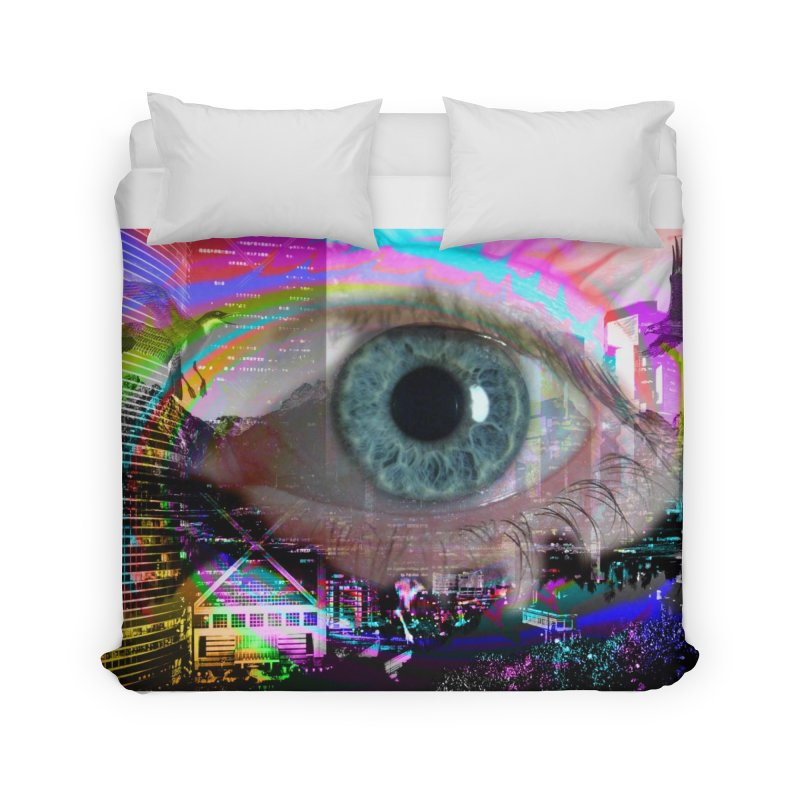 Eye on the City: Part of the Eye Series Home Duvet by InspiredPsychedelics's Artist Shop