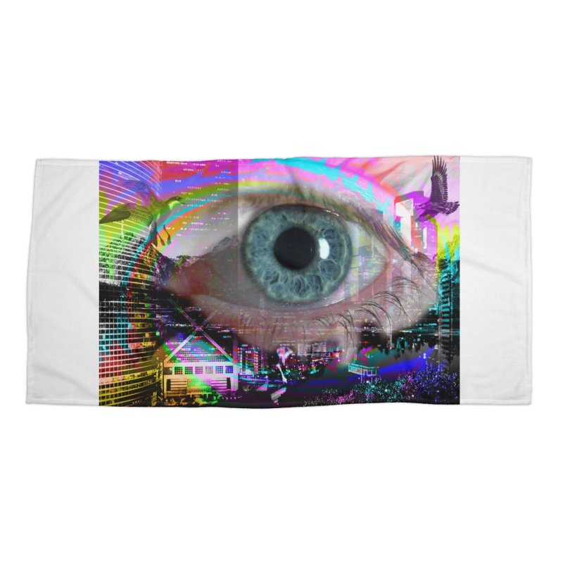 Eye on the City: Part of the Eye Series Accessories Beach Towel by InspiredPsychedelics's Artist Shop