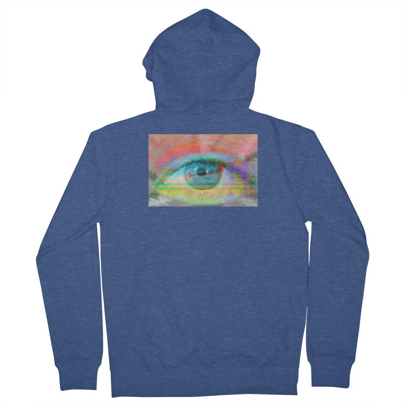 Twilight Eye: Part of the Eye Series Men's French Terry Zip-Up Hoody by InspiredPsychedelics's Artist Shop