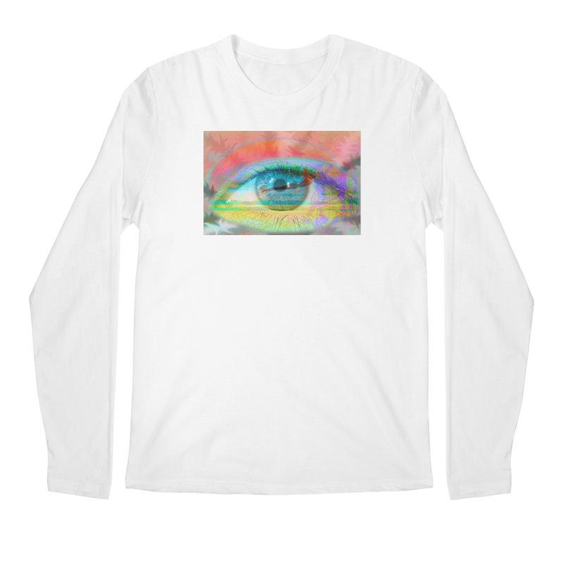 Twilight Eye: Part of the Eye Series Men's Regular Longsleeve T-Shirt by InspiredPsychedelics's Artist Shop