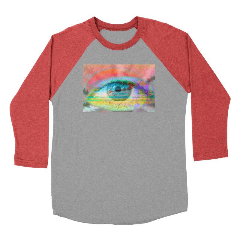 Twilight Eye: Part of the Eye Series Women's Baseball Triblend Longsleeve T-Shirt by InspiredPsychedelics's Artist Shop
