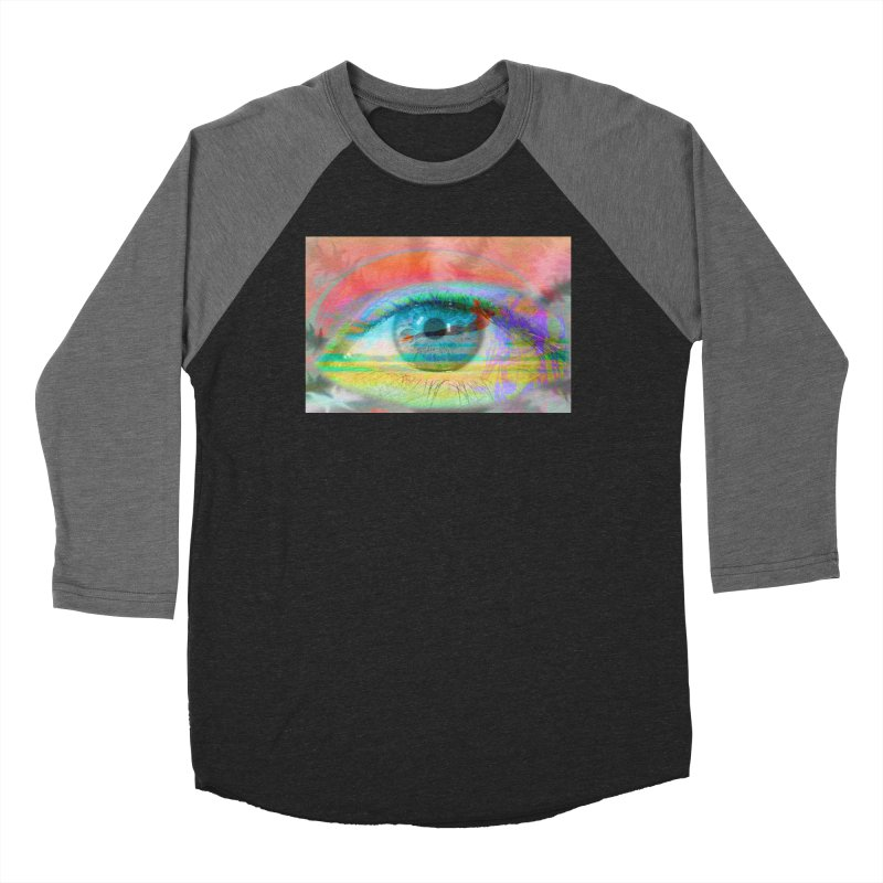 Twilight Eye: Part of the Eye Series Men's Baseball Triblend T-Shirt by InspiredPsychedelics's Artist Shop