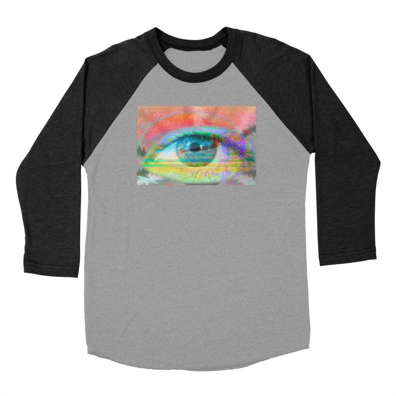 Twilight Eye: Part of the Eye Series Men's Baseball Triblend Longsleeve T-Shirt by InspiredPsychedelics's Artist Shop