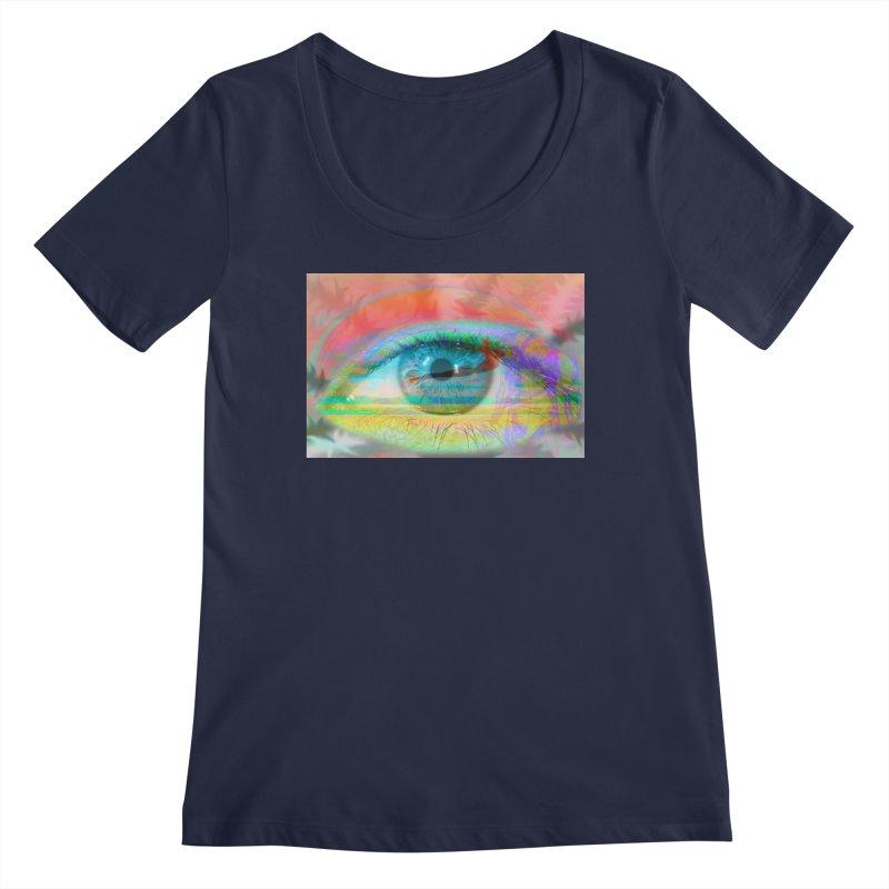 Twilight Eye: Part of the Eye Series Women's Regular Scoop Neck by InspiredPsychedelics's Artist Shop