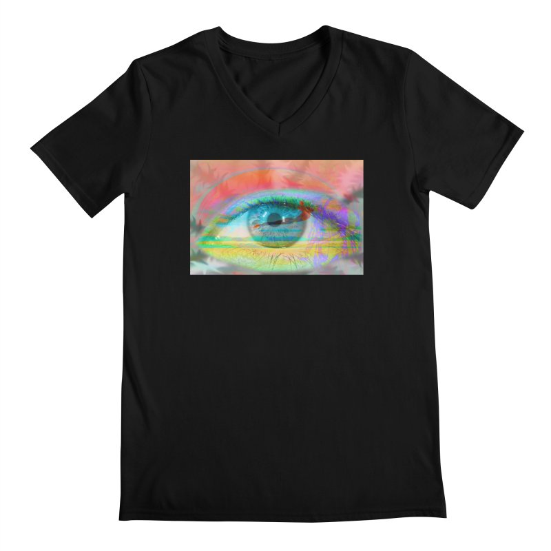 Twilight Eye: Part of the Eye Series Men's Regular V-Neck by InspiredPsychedelics's Artist Shop