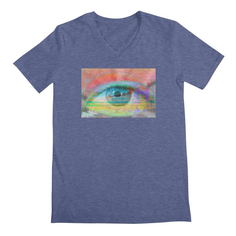 Twilight Eye: Part of the Eye Series Men's Regular V-Neck by InspiredPsychedelics's Artist Shop