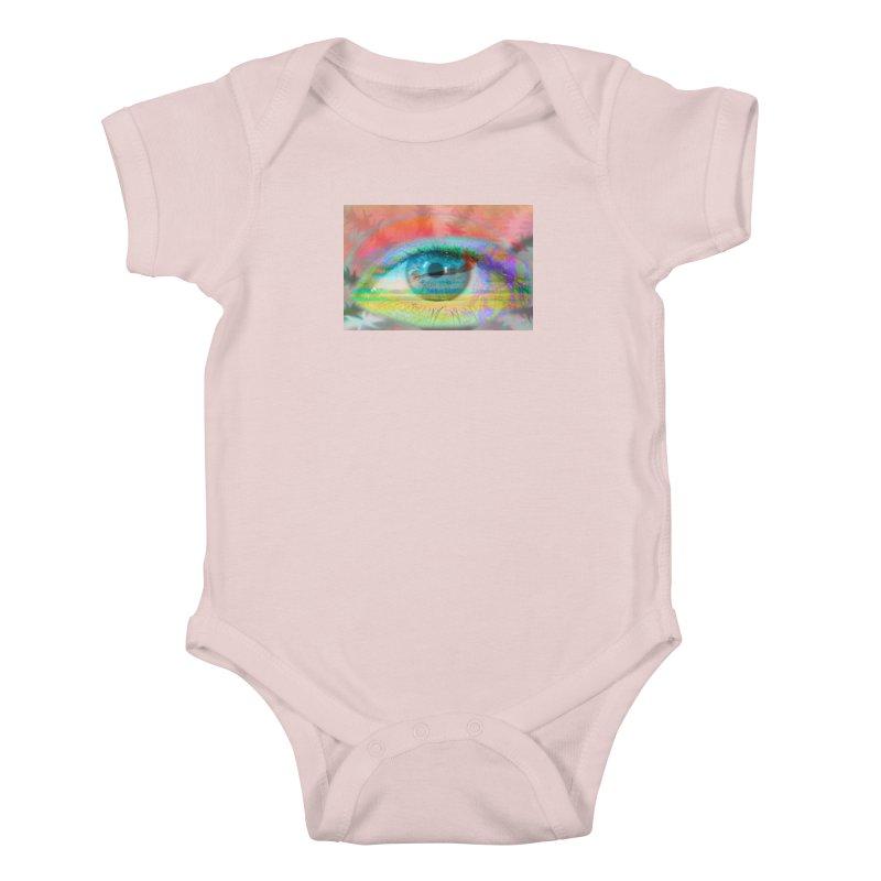 Twilight Eye: Part of the Eye Series Kids Baby Bodysuit by InspiredPsychedelics's Artist Shop
