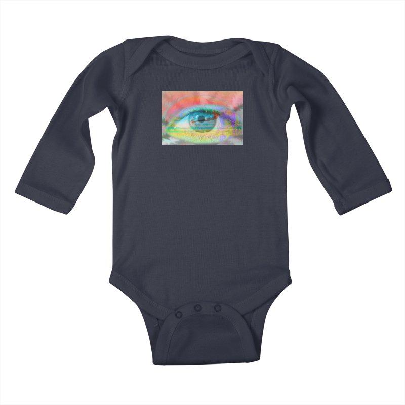 Twilight Eye: Part of the Eye Series Kids Baby Longsleeve Bodysuit by InspiredPsychedelics's Artist Shop