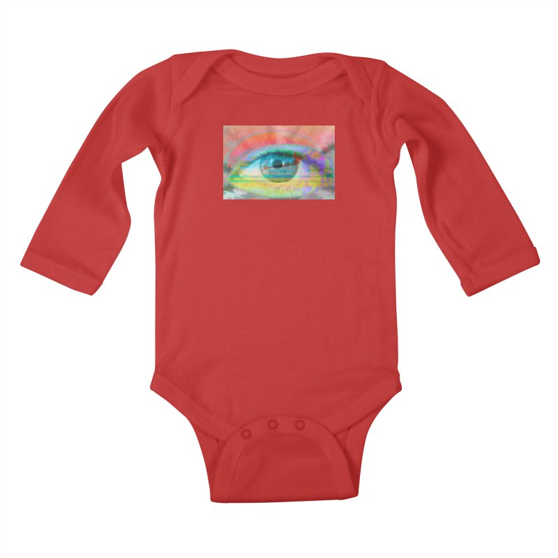 Twilight Eye: Part of the Eye Series Kids Baby Longsleeve Bodysuit by InspiredPsychedelics's Artist Shop