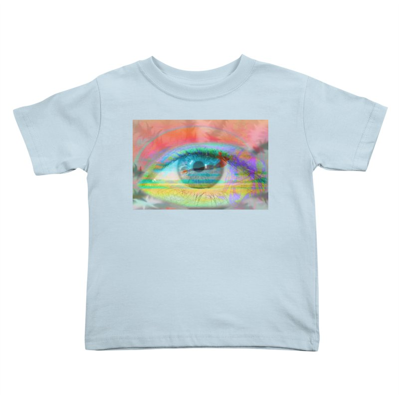 Twilight Eye: Part of the Eye Series Kids Toddler T-Shirt by InspiredPsychedelics's Artist Shop