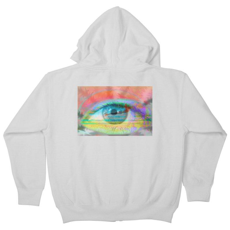 Twilight Eye: Part of the Eye Series Kids Zip-Up Hoody by InspiredPsychedelics's Artist Shop