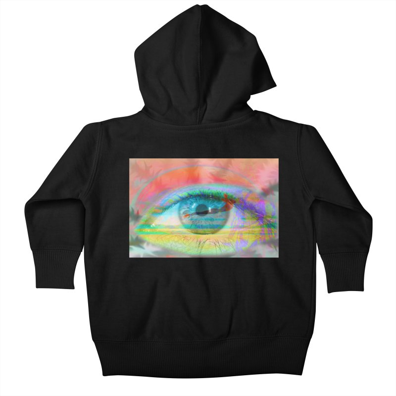 Twilight Eye: Part of the Eye Series Kids Baby Zip-Up Hoody by InspiredPsychedelics's Artist Shop