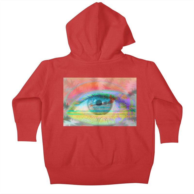 Twilight Eye: Part of the Eye Series Kids Baby Zip-Up Hoody by InspiredPsychedelics's Artist Shop