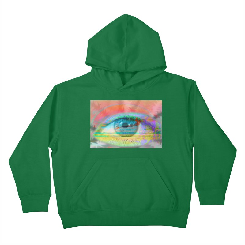 Twilight Eye: Part of the Eye Series Kids Pullover Hoody by InspiredPsychedelics's Artist Shop