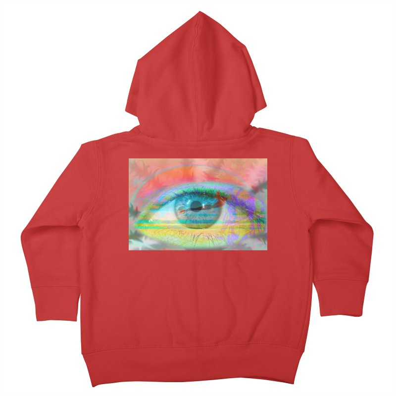Twilight Eye: Part of the Eye Series Kids Toddler Zip-Up Hoody by InspiredPsychedelics's Artist Shop