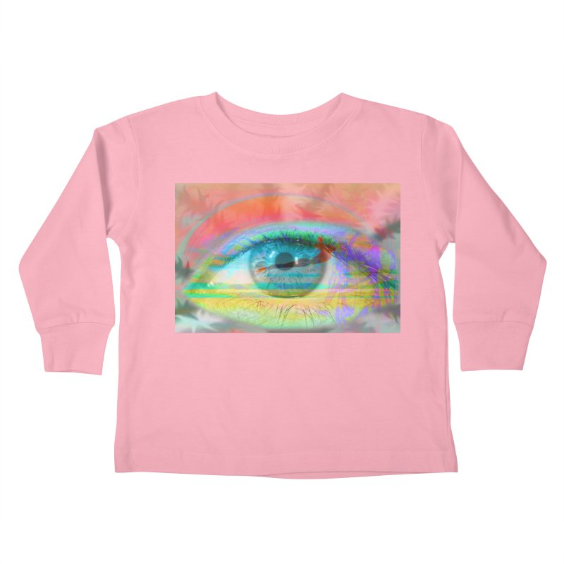Twilight Eye: Part of the Eye Series Kids Toddler Longsleeve T-Shirt by InspiredPsychedelics's Artist Shop