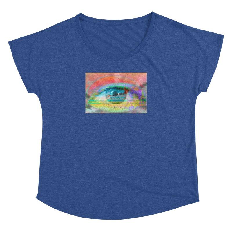 Twilight Eye: Part of the Eye Series Women's Dolman Scoop Neck by InspiredPsychedelics's Artist Shop