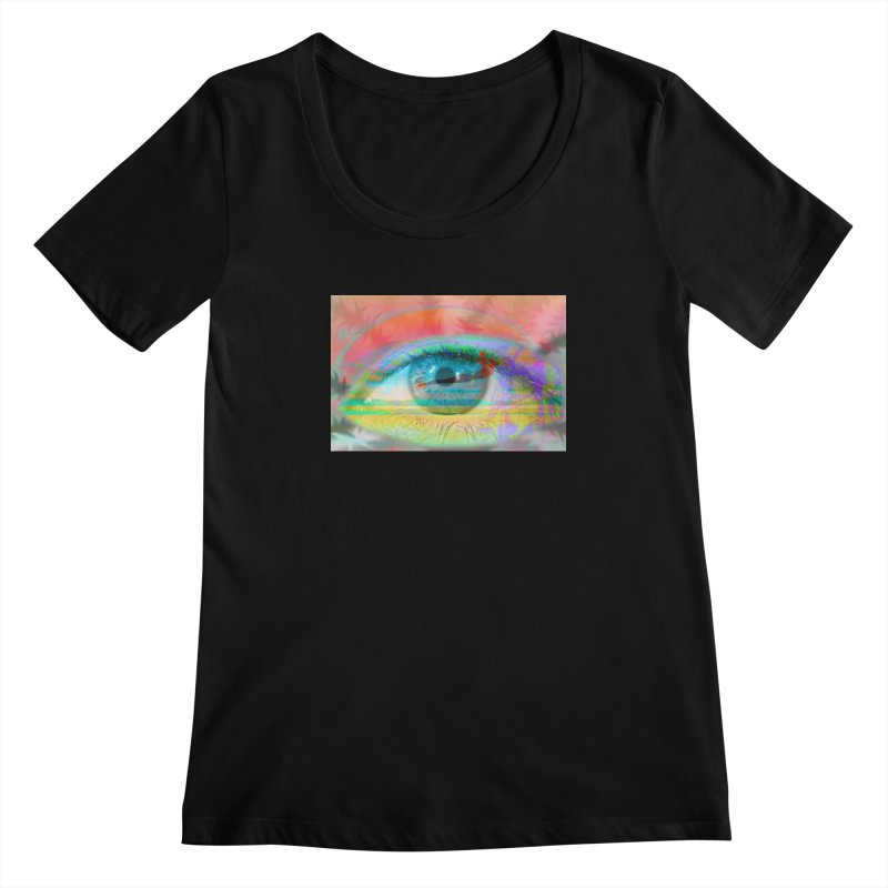 Twilight Eye: Part of the Eye Series Women's Scoopneck by InspiredPsychedelics's Artist Shop