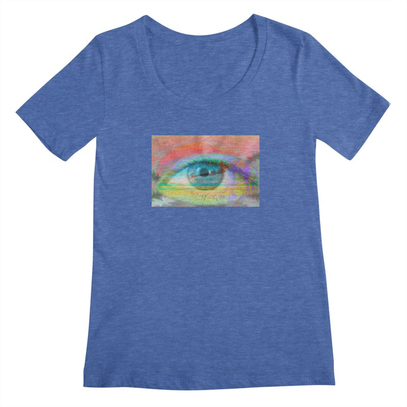 Twilight Eye: Part of the Eye Series Women's Regular Scoop Neck by InspiredPsychedelics's Artist Shop