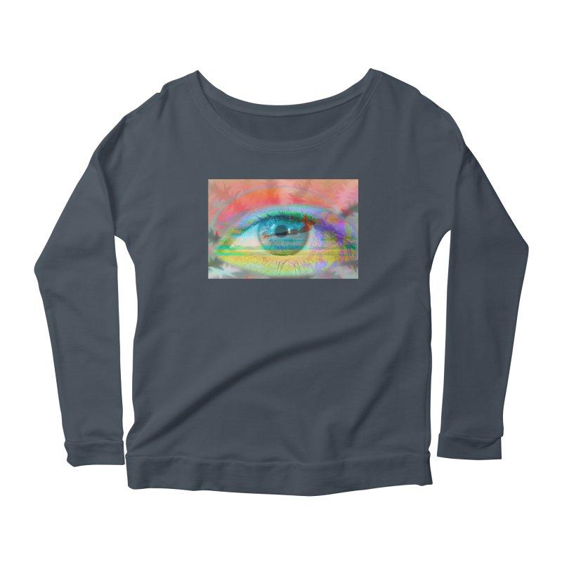 Twilight Eye: Part of the Eye Series Women's Scoop Neck Longsleeve T-Shirt by InspiredPsychedelics's Artist Shop