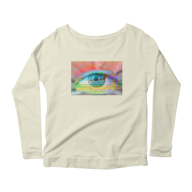 Twilight Eye: Part of the Eye Series Women's Scoop Neck Longsleeve T-Shirt by InspiredPsychedelics's Artist Shop