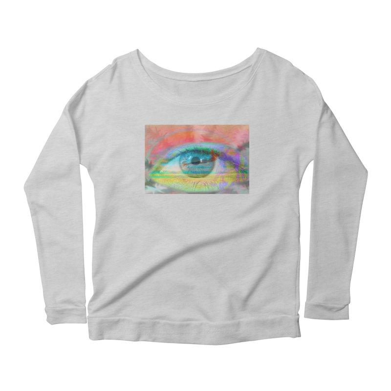 Twilight Eye: Part of the Eye Series Women's Longsleeve Scoopneck  by InspiredPsychedelics's Artist Shop