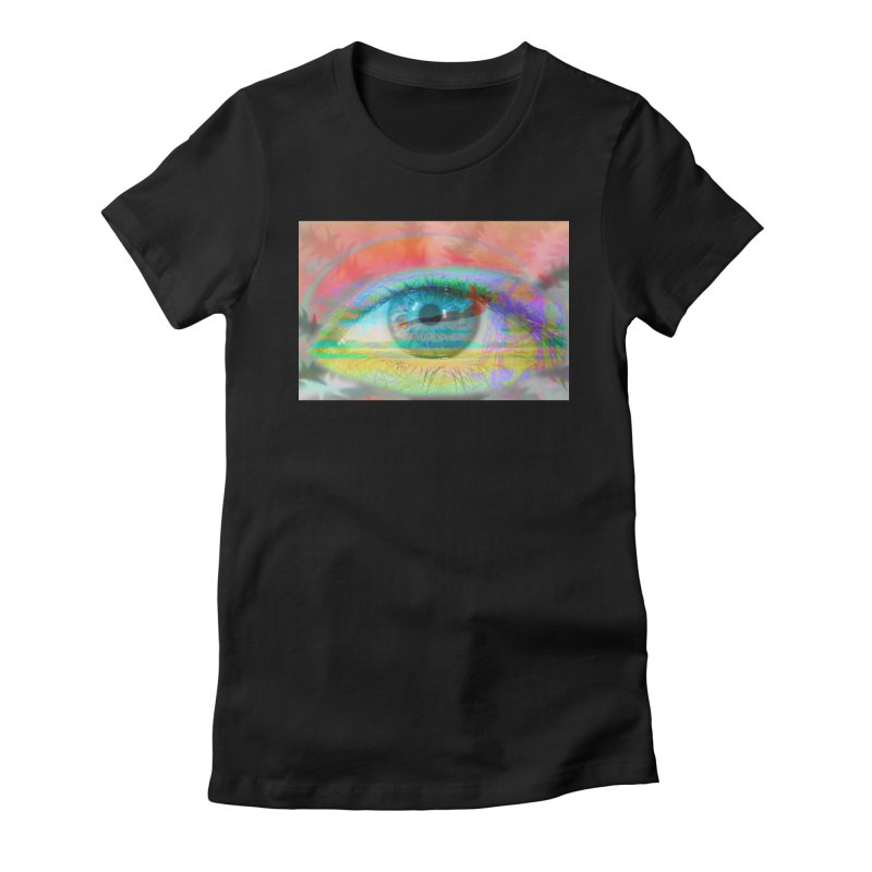 Twilight Eye: Part of the Eye Series Women's Fitted T-Shirt by InspiredPsychedelics's Artist Shop
