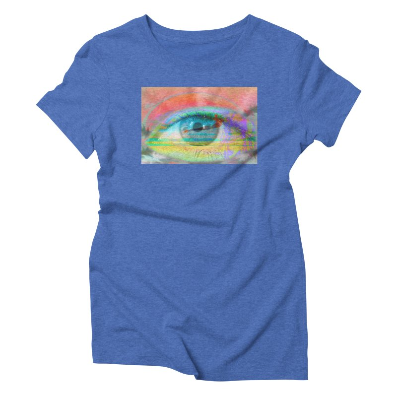 Twilight Eye: Part of the Eye Series Women's Triblend T-Shirt by InspiredPsychedelics's Artist Shop