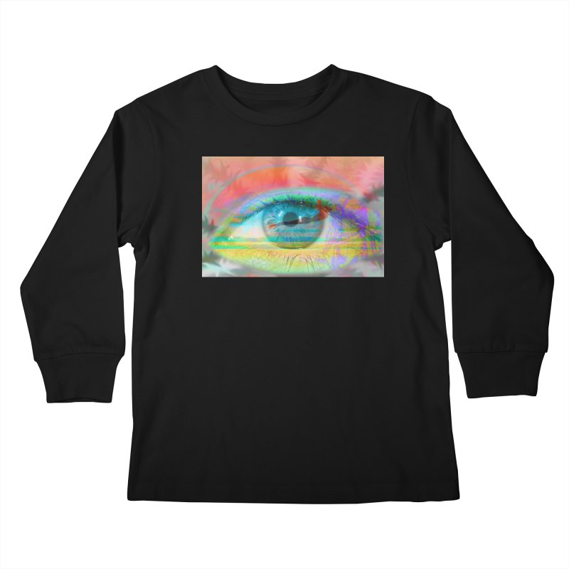 Twilight Eye: Part of the Eye Series Kids Longsleeve T-Shirt by InspiredPsychedelics's Artist Shop
