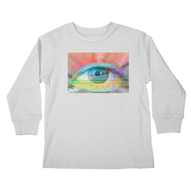 Twilight Eye: Part of the Eye Series Kids Longsleeve T-Shirt by InspiredPsychedelics's Artist Shop