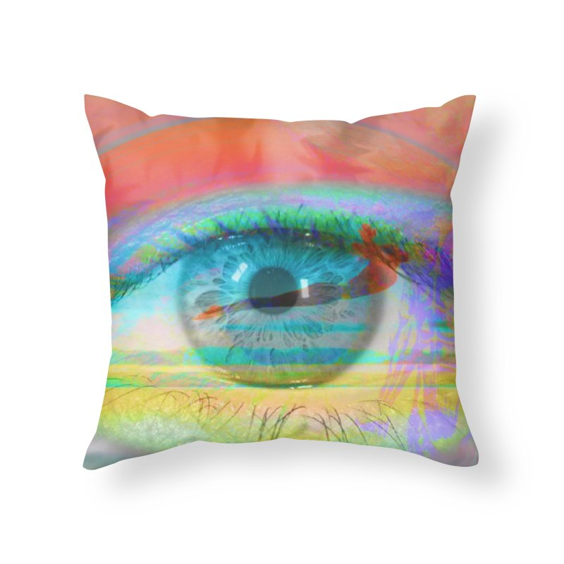 Twilight Eye: Part of the Eye Series Home Throw Pillow by InspiredPsychedelics's Artist Shop