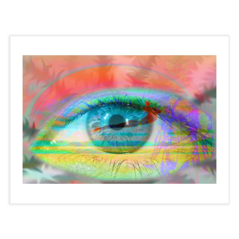 Twilight Eye: Part of the Eye Series Home Fine Art Print by InspiredPsychedelics's Artist Shop