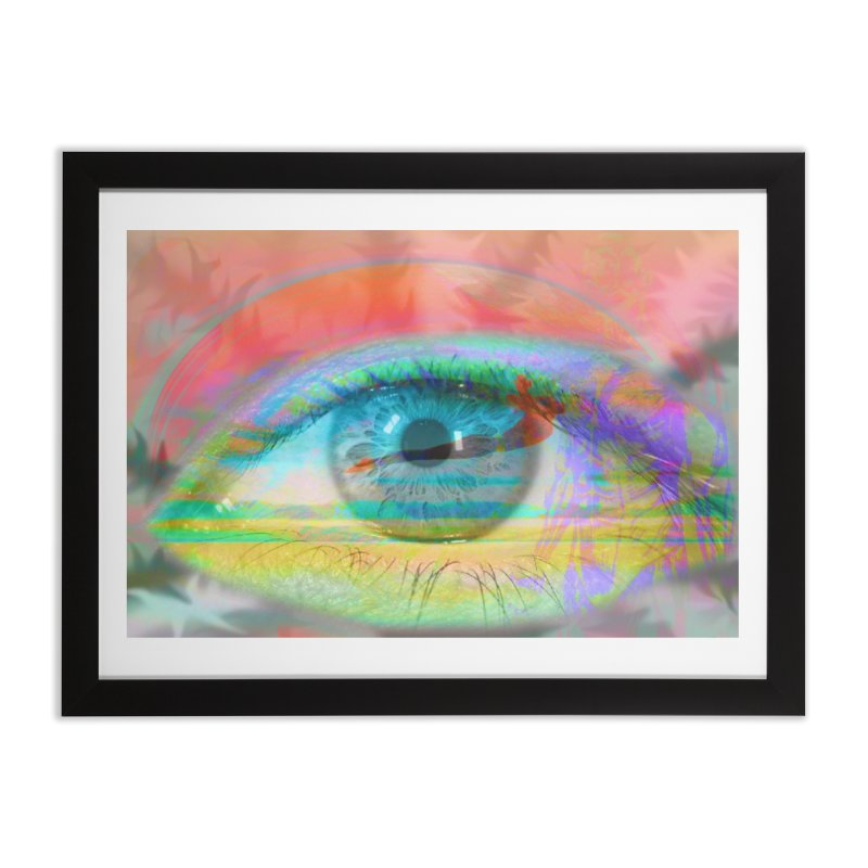 Twilight Eye: Part of the Eye Series Home Framed Fine Art Print by InspiredPsychedelics's Artist Shop