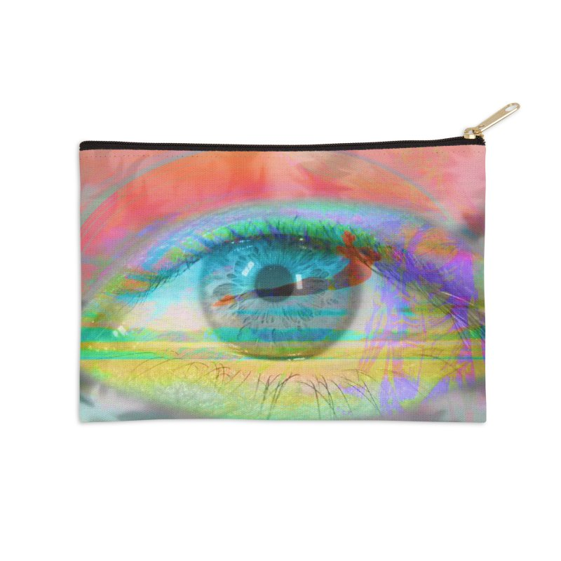 Twilight Eye: Part of the Eye Series Accessories Zip Pouch by InspiredPsychedelics's Artist Shop