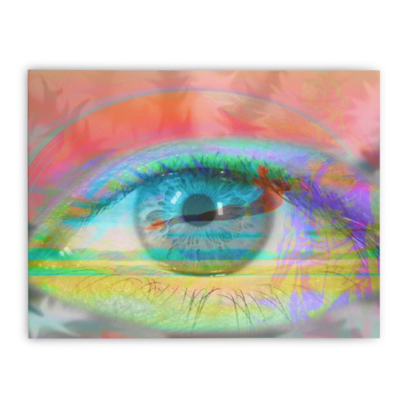 Twilight Eye: Part of the Eye Series Home Stretched Canvas by InspiredPsychedelics's Artist Shop
